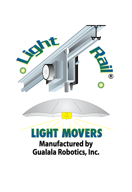 LightRail Light Movers Logo - Gualala Robtics, Inc