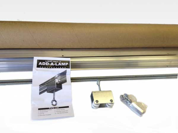 The Lightrail Add-A-Lamp Kit is an affordable way to move a second or third indoor grow light.