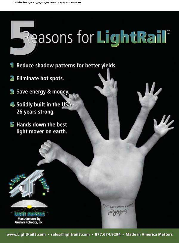Hand ad for LightRail Poster
