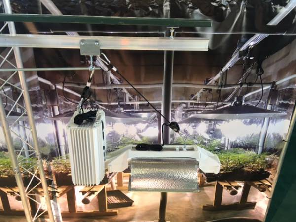 Industrial Grow Equipment with light movers