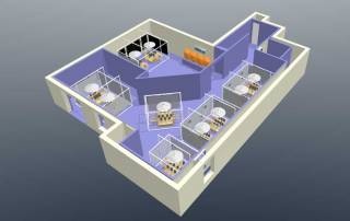 Basement Grow Room 3D layout
