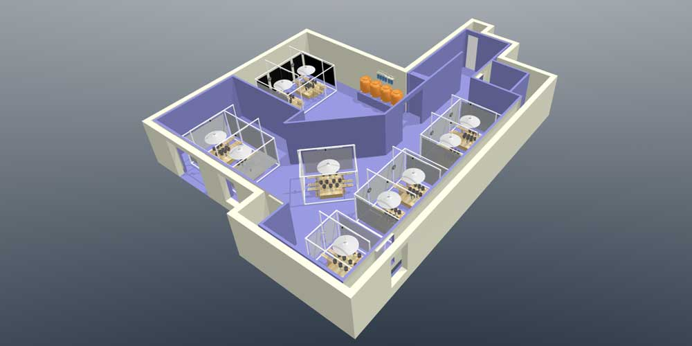 Basement Grow Room 3D layout