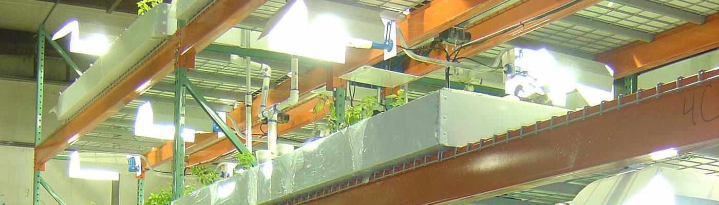 LightRail 5 industrial Light Moving grow system