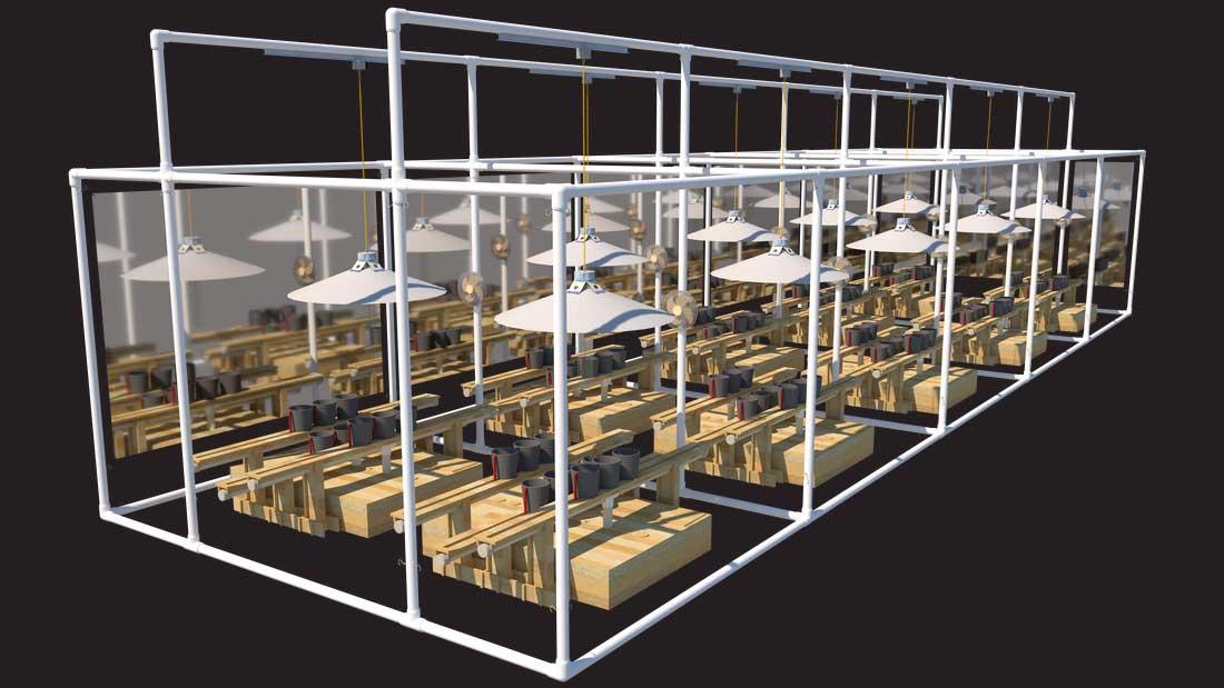 Complete Rack setup for LightRail Moving Light System