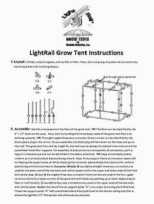 Grow Tents Instructions Cover Sheet