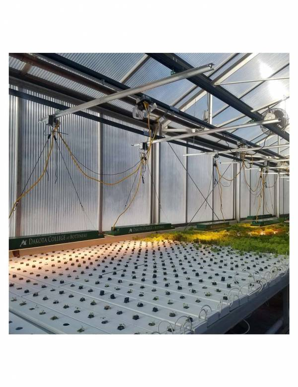 LightRail light movers in Dakota College greenhouse pix 1